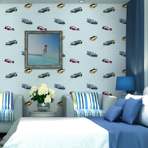 Boys bedroom wallpaper