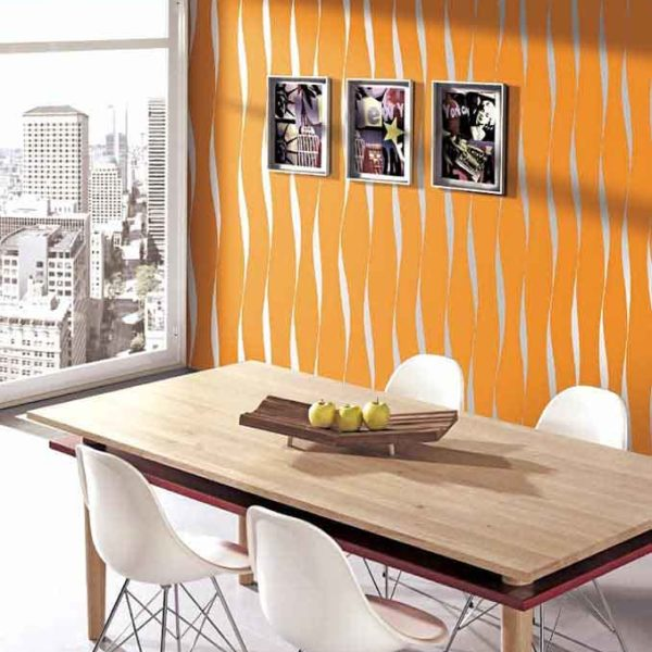 Orange wallpaper design