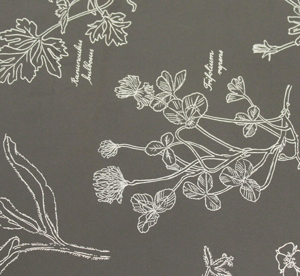 0110 Grey Floral Wallpaper