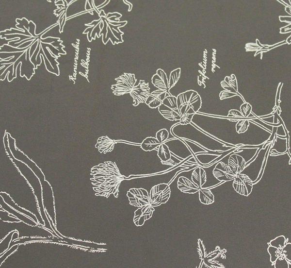 0110 Grey Floral Wallpaper
