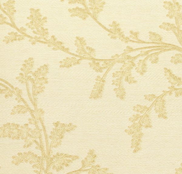 077X Gold Flower Wallpaper