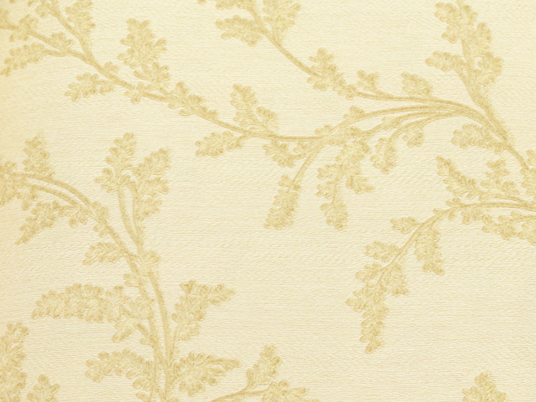 Antique gold floral wallpaper