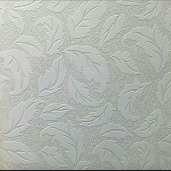 Floral White Wallpaper