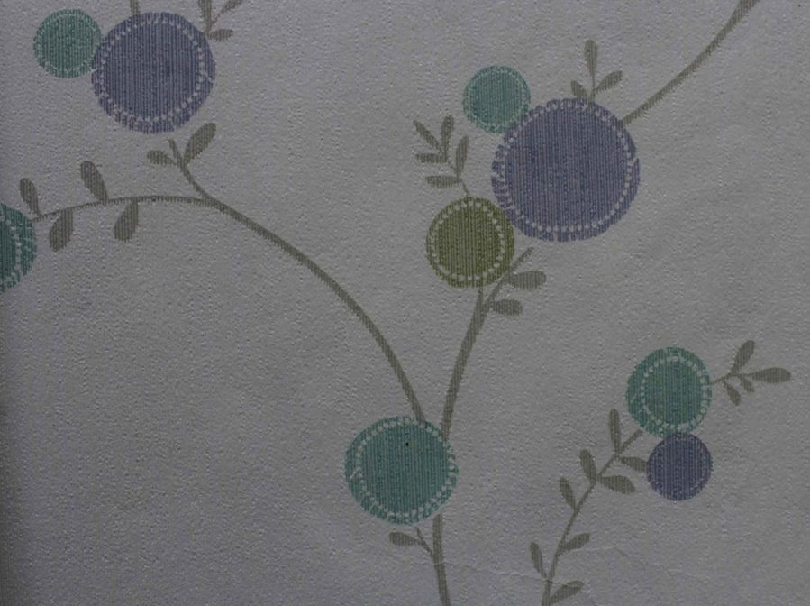239003 Purple floral wallpaper design