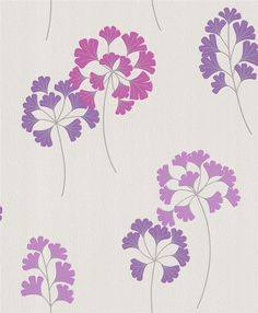 311716 Pink & Purple Floral Wallpaper