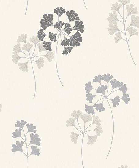 311730 Grey Flower Wallpaper