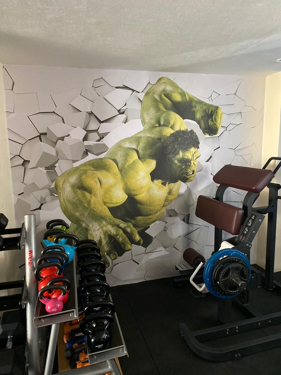 Motivational Hotel Gym Full Wall Wrap Printed Wallpaper