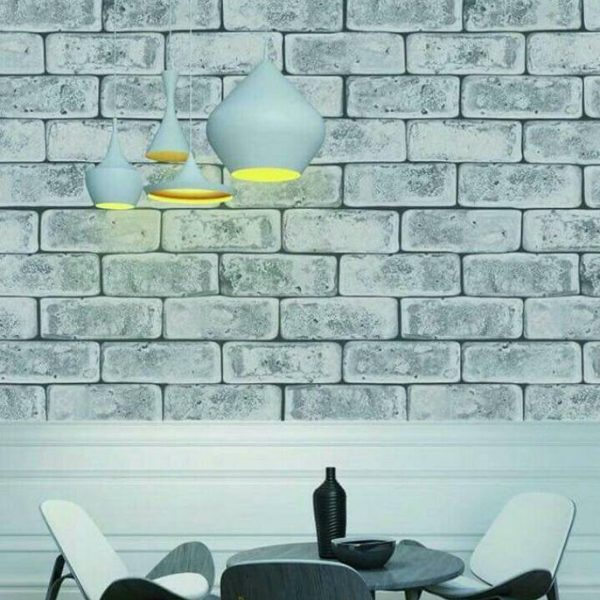 3d White brick wallpaper