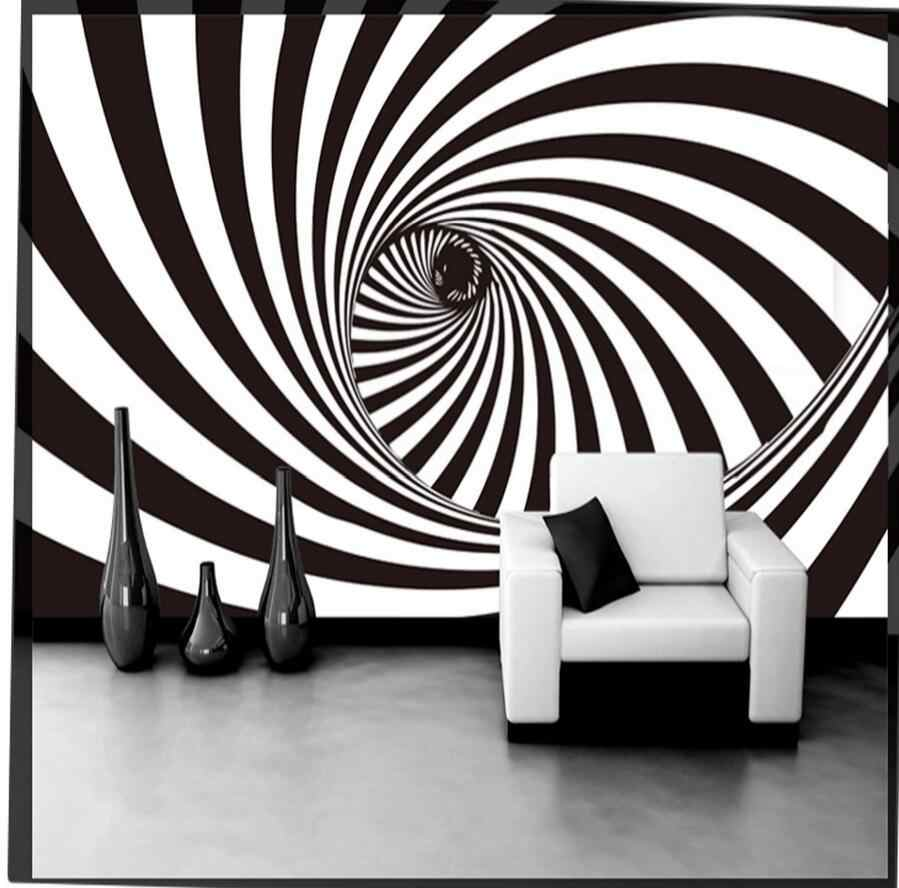 Abstract 3d optical illusion tunnel wallpaper for house walls
