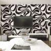 99022r Geometric black and white wallpaper