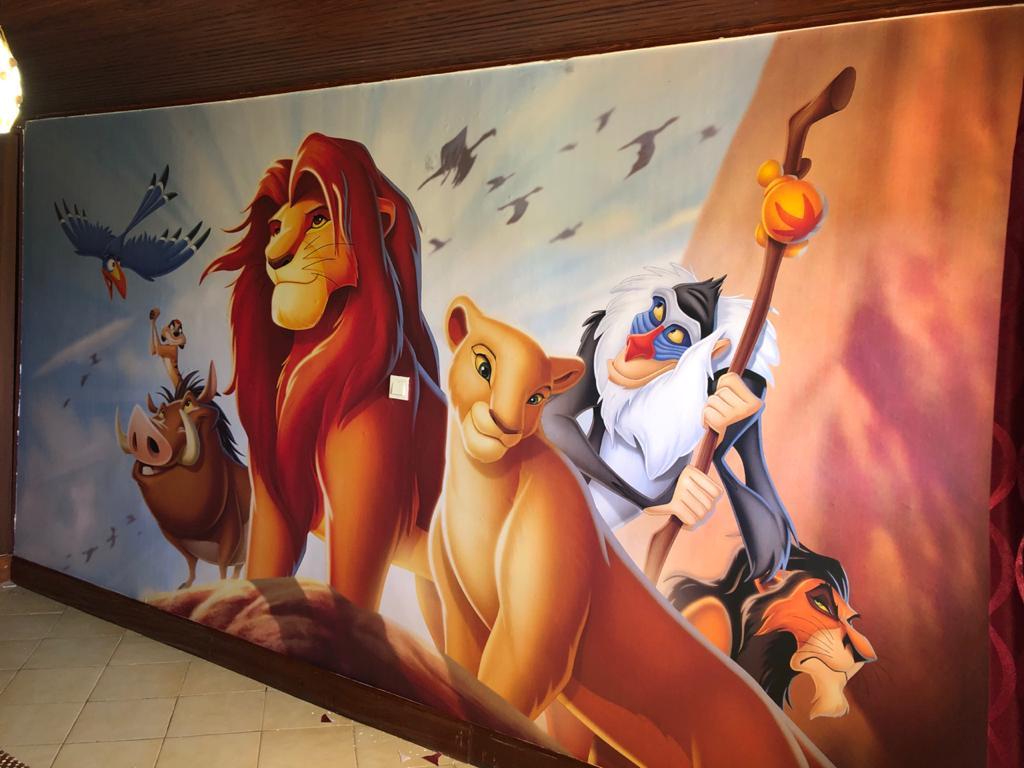 Nana & Lion King Disney Mural by Wallpaper Kenya