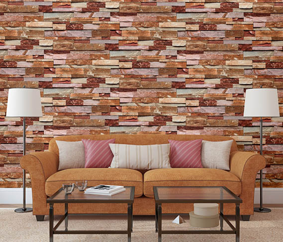 A22-20P01 Embossed Brick Wallpaper