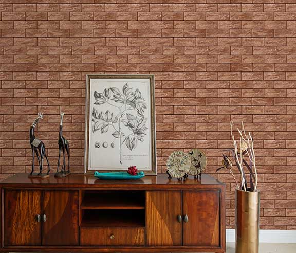 A22-20P08 Brown brick wallpaper