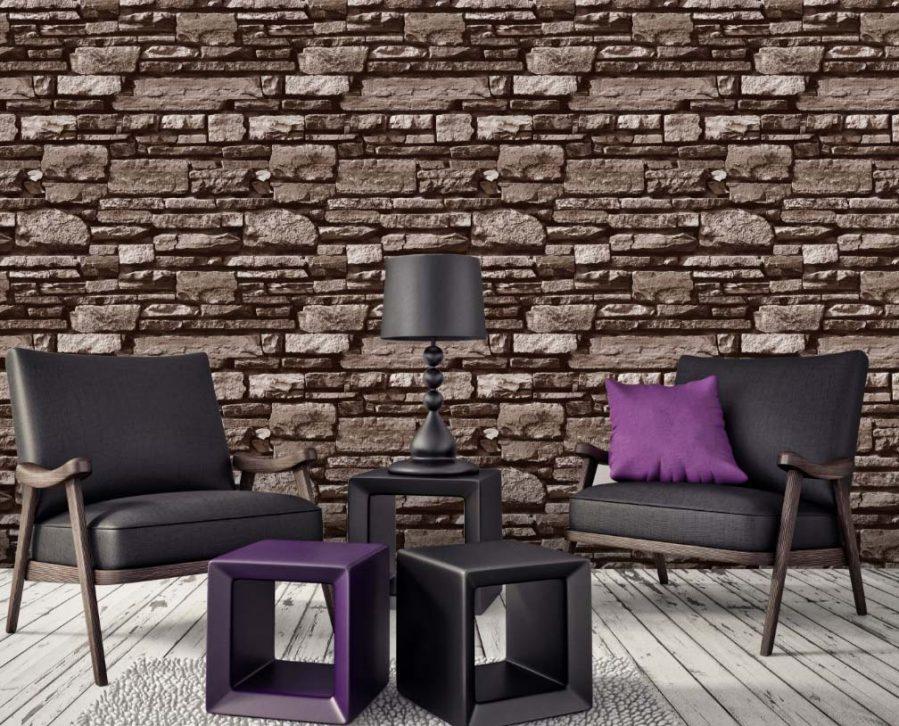 A22-20P33 Textured Brick Wallpaper