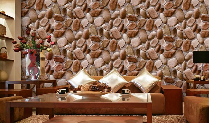 3d Stone Wallpaper for Home Living Room