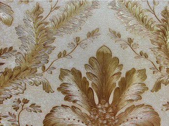 AY-30074 Gold damask wallpaper