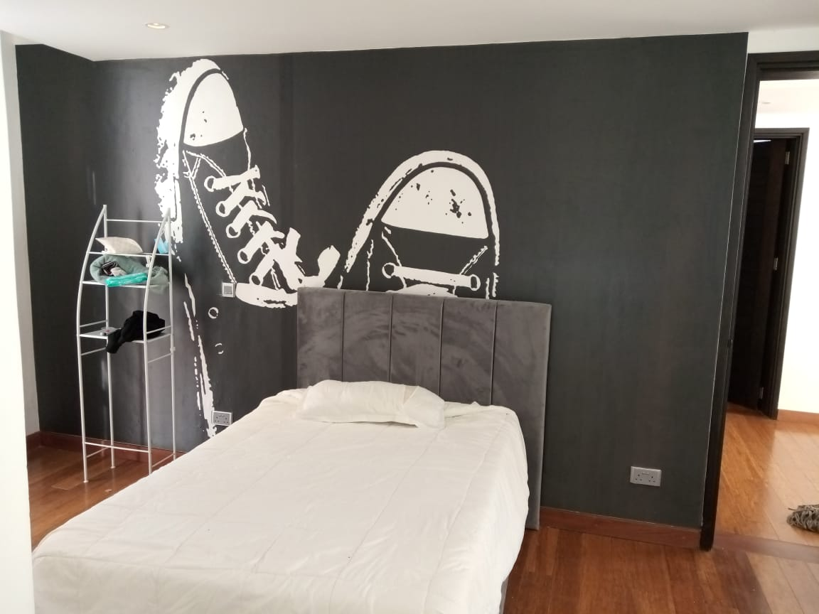 Black and white customized full wall wallpaper mural