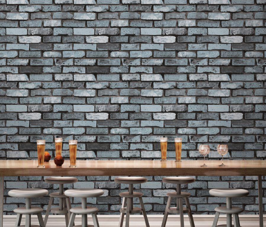Black brick wallpaper