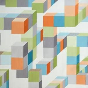 3d geometrical wallpaper