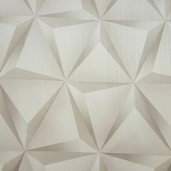 3D geometric wallpaper design