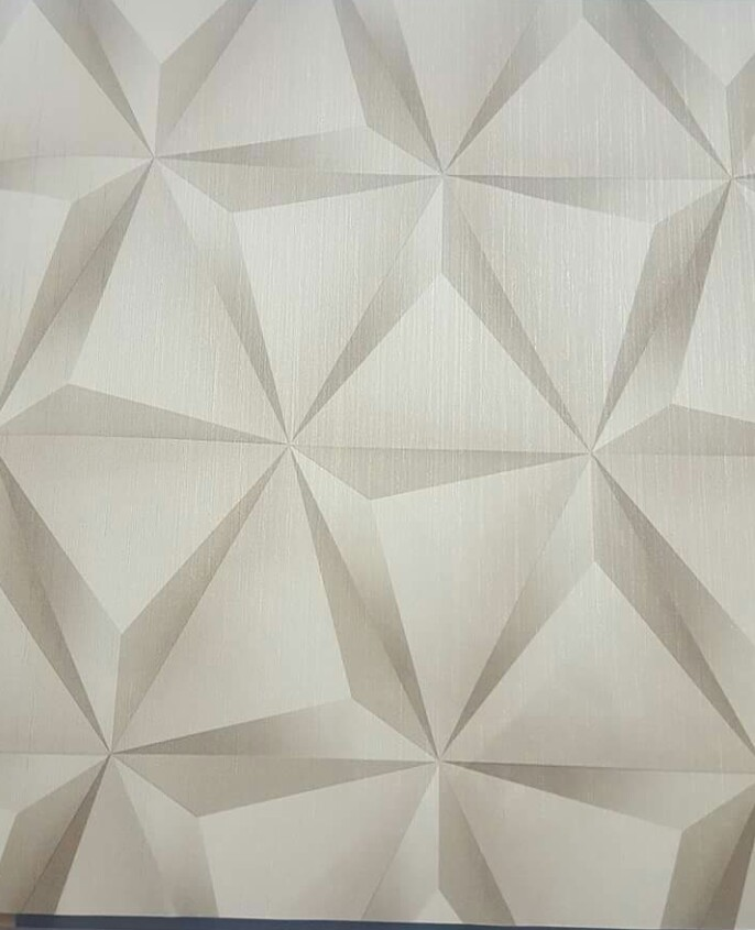 3D geometric wallpaper design