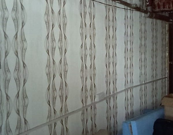 Wallpaper for Kenya Shillings 1500 per half meter by 10 m rolls.