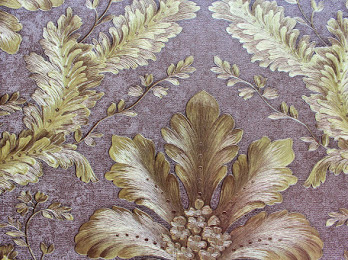 Gold & brown damask