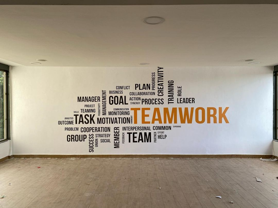 Business Words on Creative Golden Tulip Hotel Wall Mural