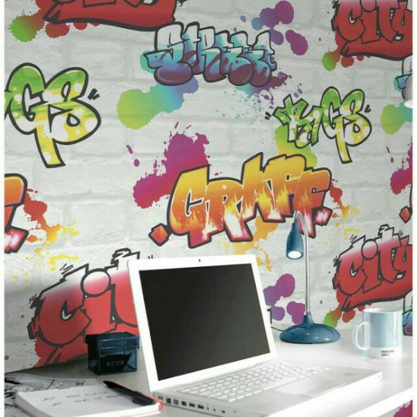 Graffiti wall mural wallpaper
