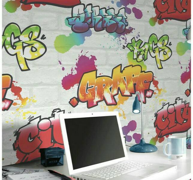 Graffiti wall mural wallpaper