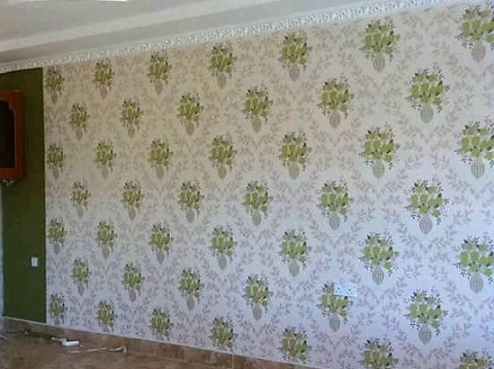 Green floral wallpaper desgn - Call: 0720271544 Wallpaper Kenya.