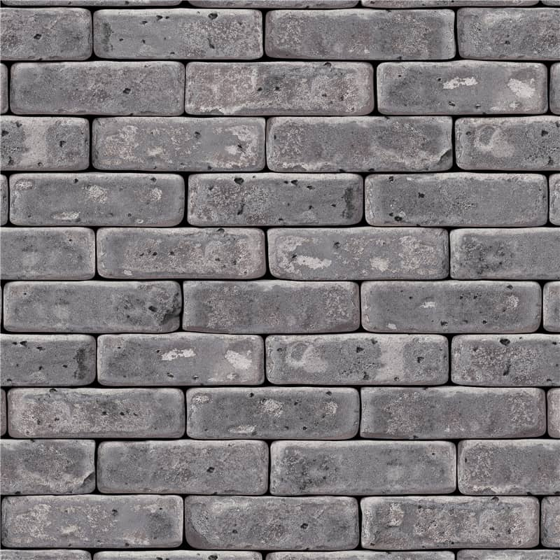 3d rugged grey faux brick wall covering