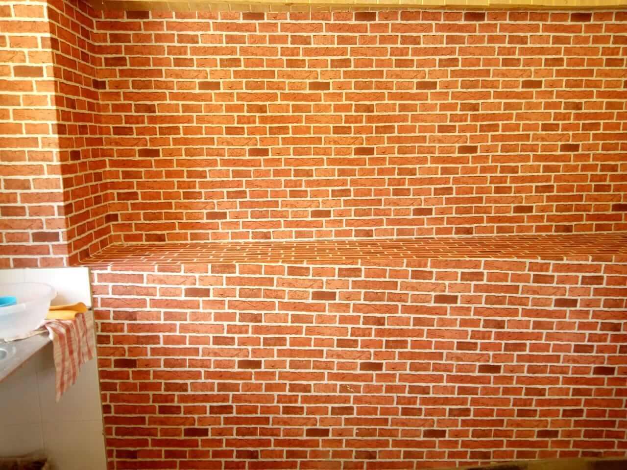 LCPE180-0105 Red Brick Wallpaper - Call: +254741889754 Wallpaper Kenya.