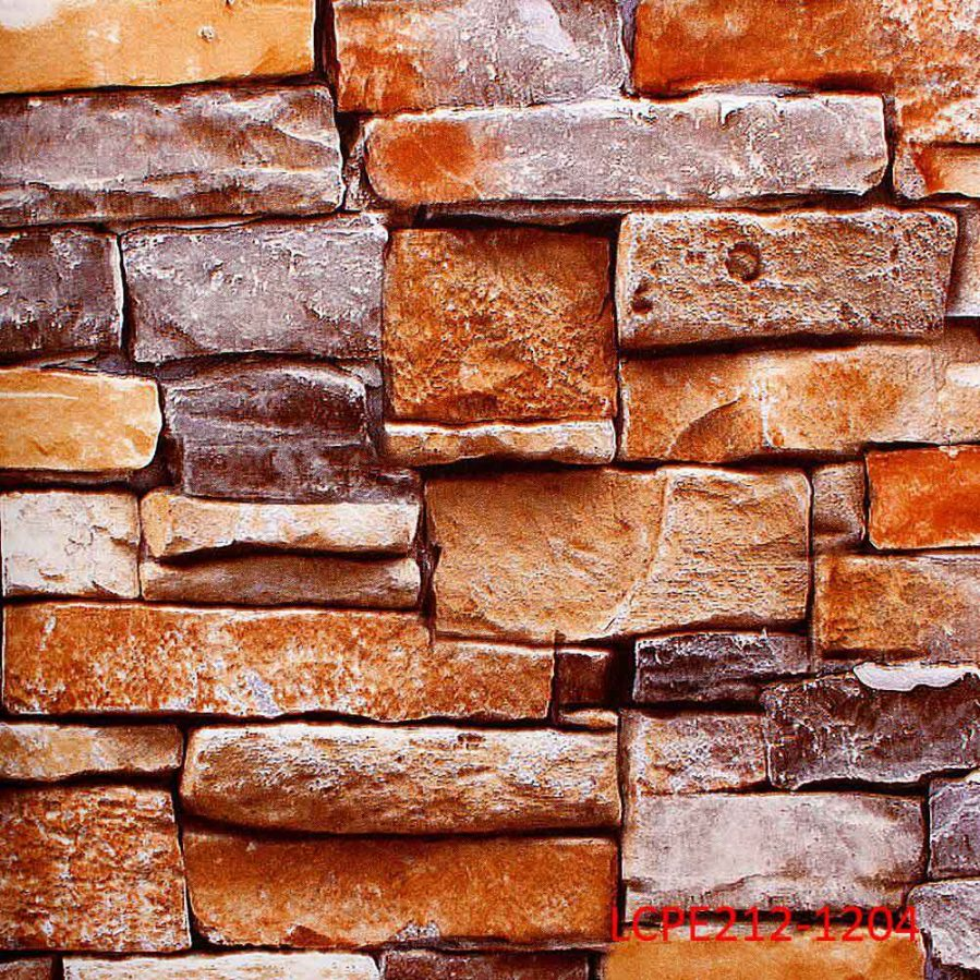 LCPE212-1204 Orange Brick Wallpaper