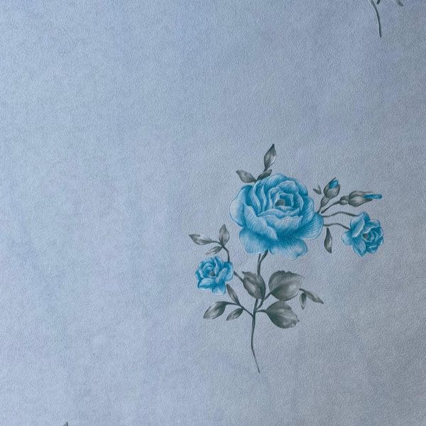 light blue flower wallpaper