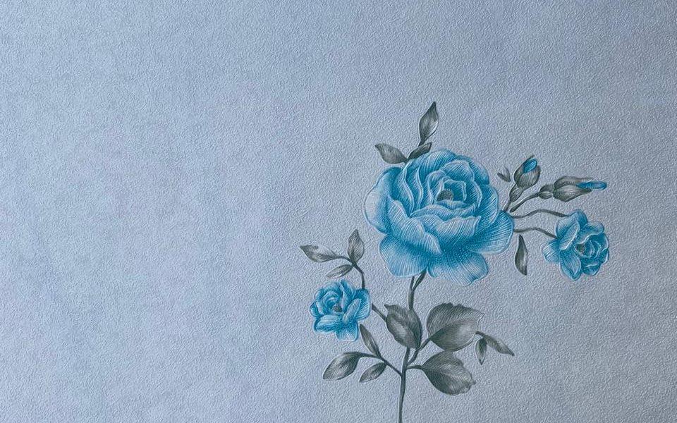 light blue flower wallpaper