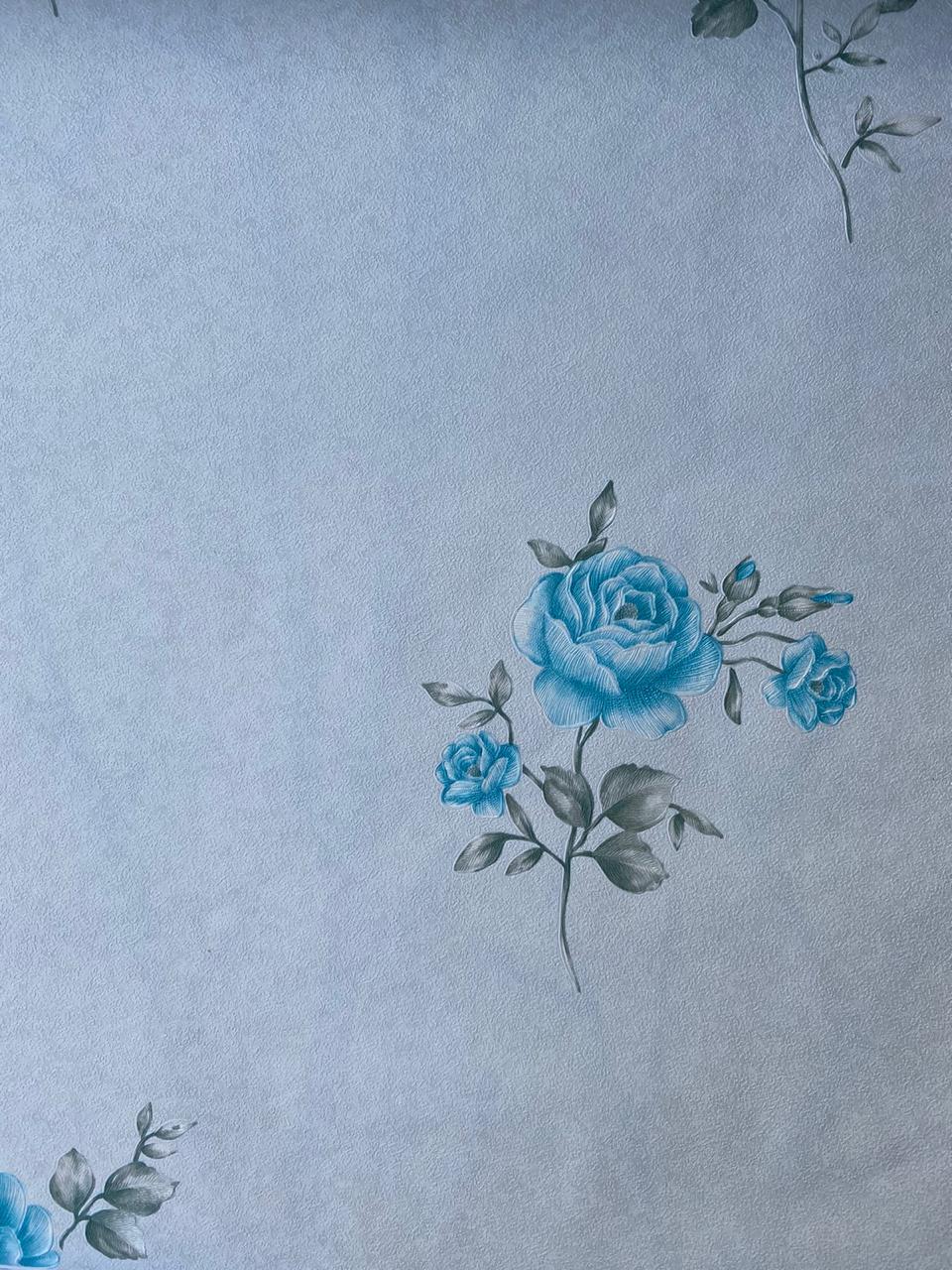 751109x Light Blue Floral Wallpaper Call 0720271544 Wallpaper