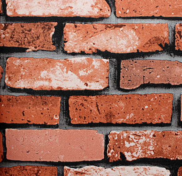MT-22123 Rustic red brick wallpaper