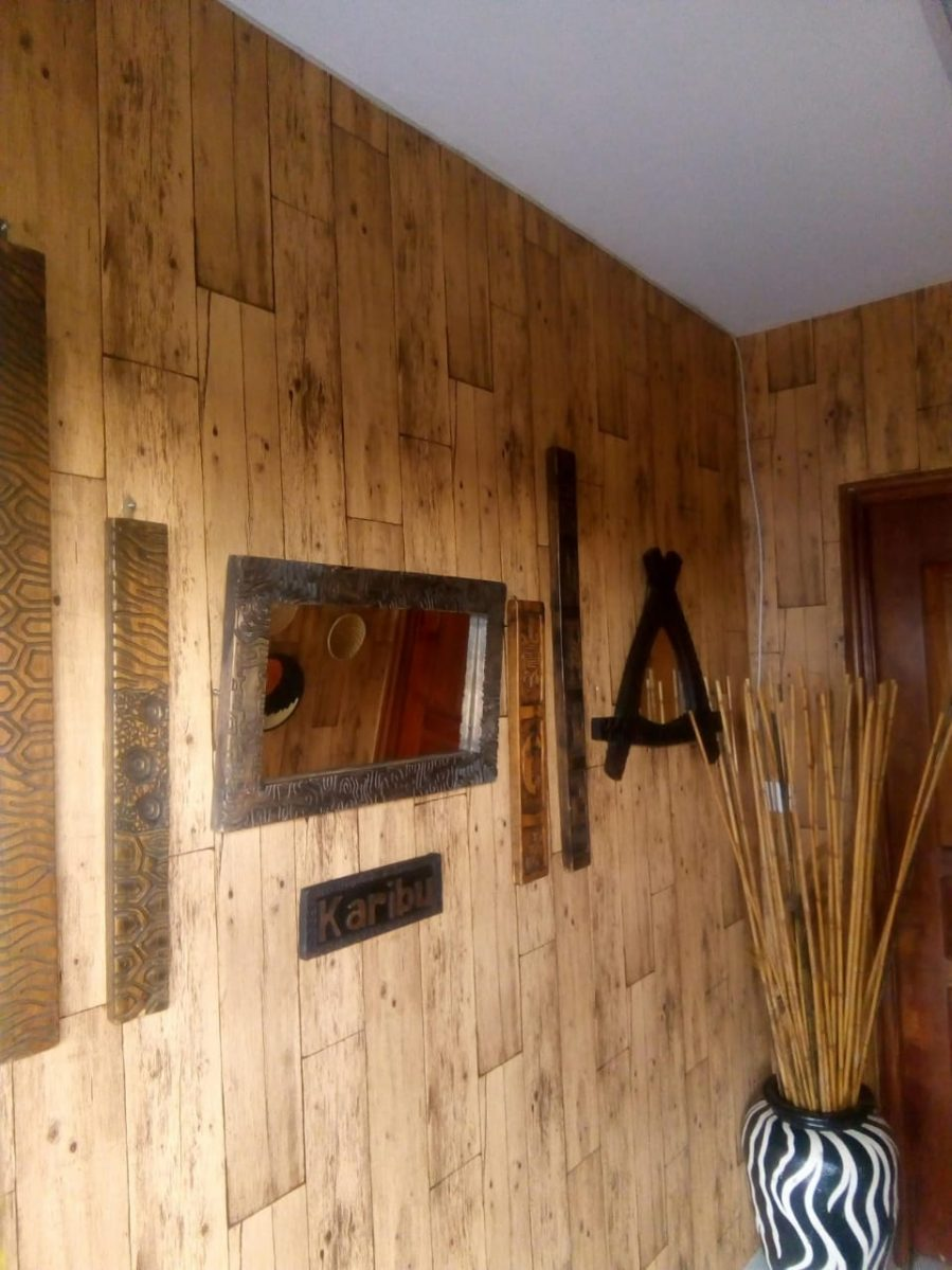 Wallpaper Kenya Wood Plank Decor