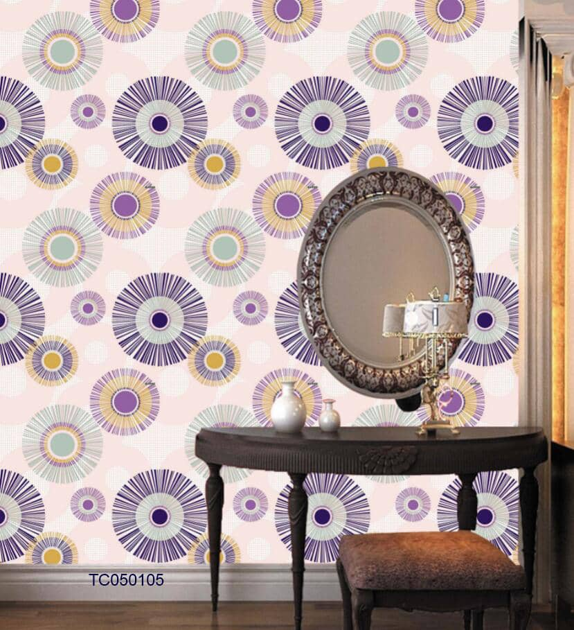Purple and yellow wallpaper