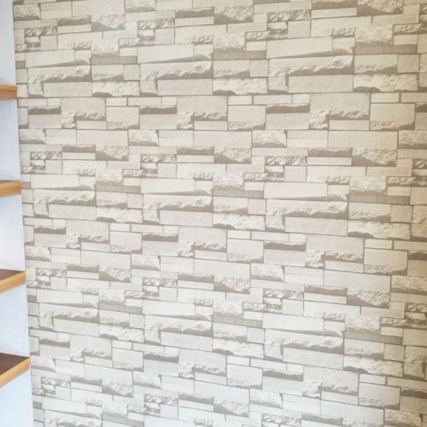 ROM-1172 White brick wallpaper