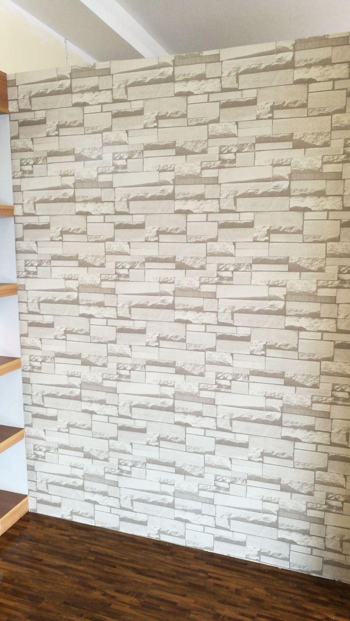 Rom 1172 White Brick Wallpaper