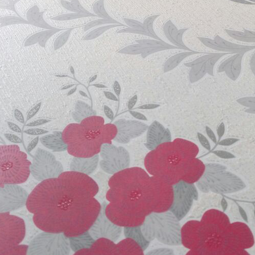 Red floral wallpaper design