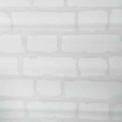 Rustic white brick wallpaper