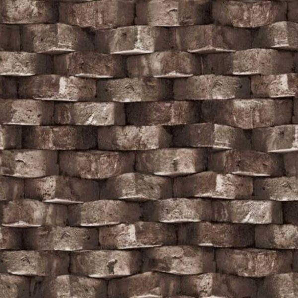S-20162 dark brown brick wallpaper