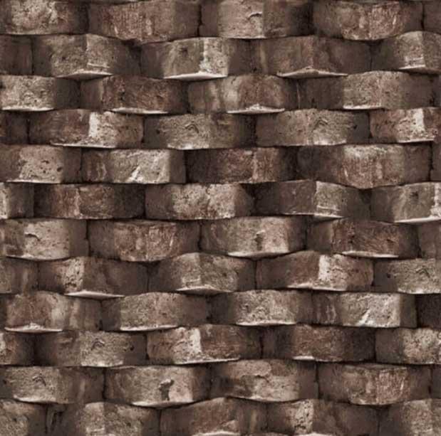 S-20162 dark brown brick wallpaper