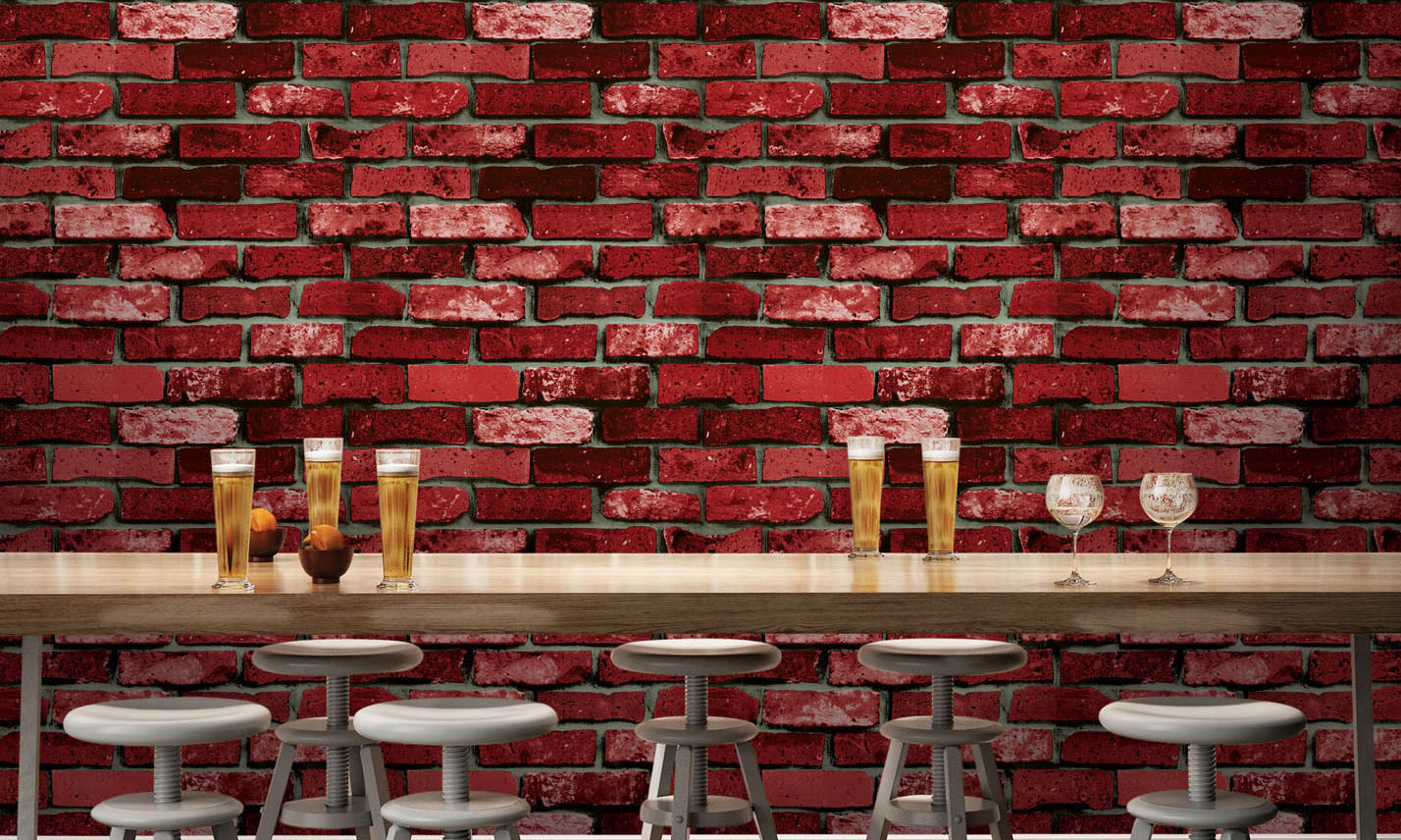 Rustic red brick imitation