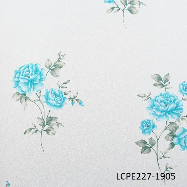 Turquoise Flower Wallpaper LCPE227-1905