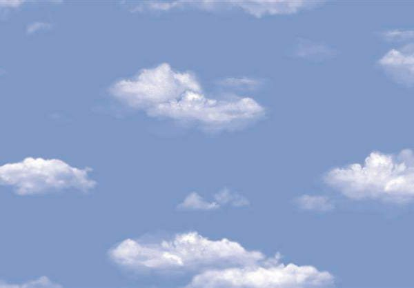 White clouds blue skies wallpaper