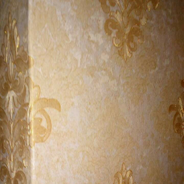 damask beige & gold wallpaper